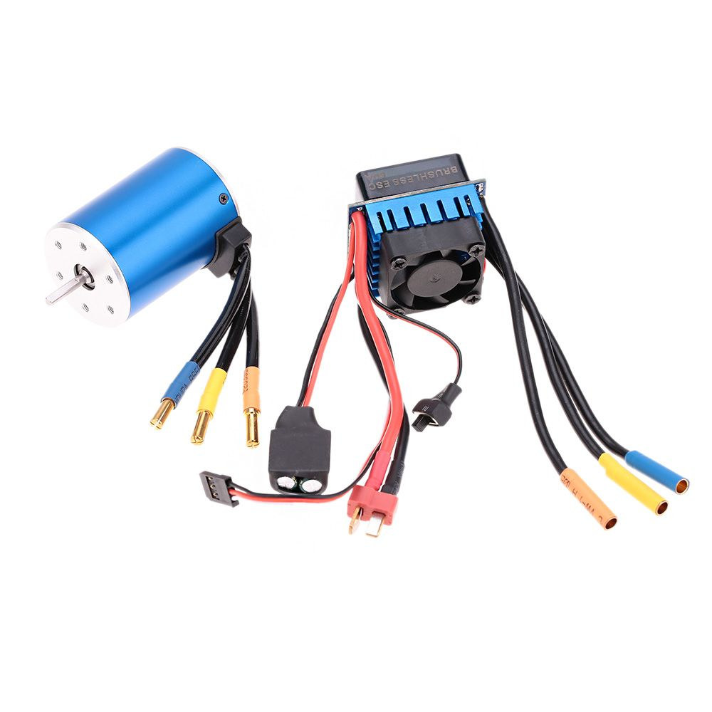 Aeolian 3650 3900kv 4p Sensorless Brushless Car Motor With 60a Esc Wiring Splash Proof Speed Controller For 1 10 Rc Truck Parts