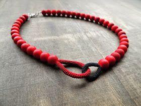 handmade jewelry with a crochet twist