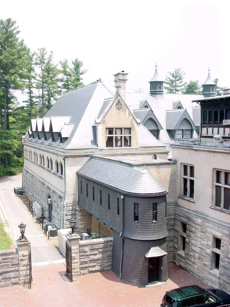 Biltmore Estate- Kitchen Courtyard Slate Covered Staircase