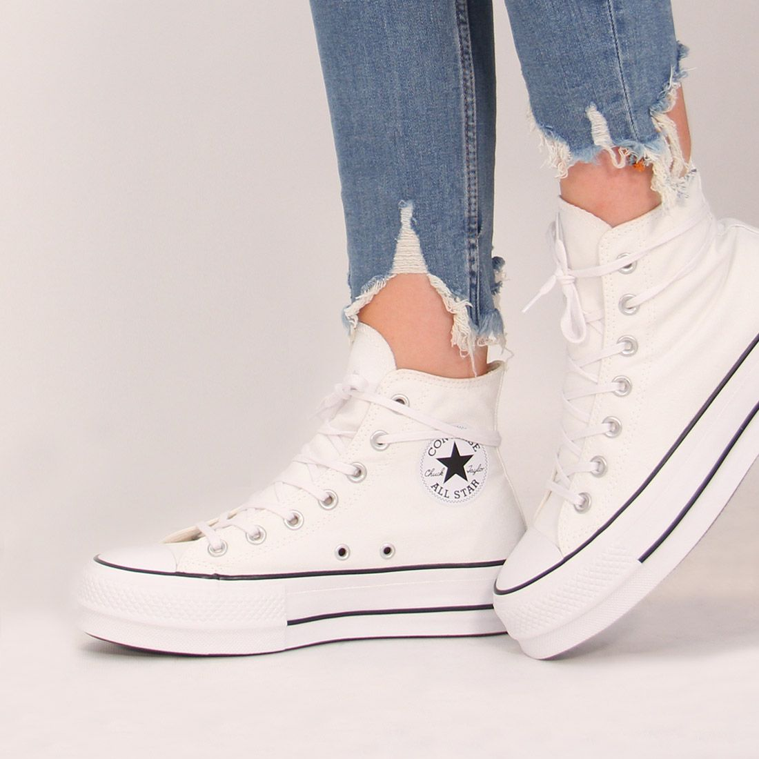 converse mujer lift altas