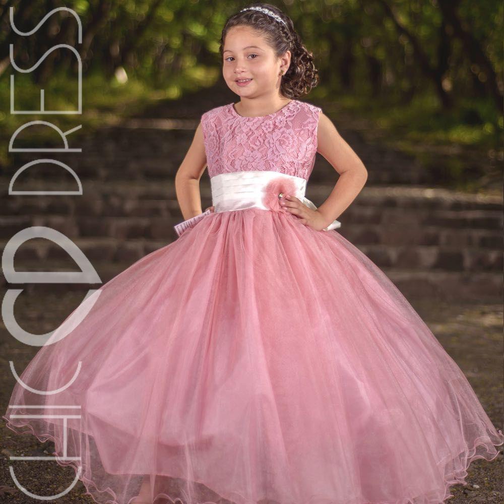 Modelo NF93-k vestido de niña para fiesta, el modelo cuenta con un ...