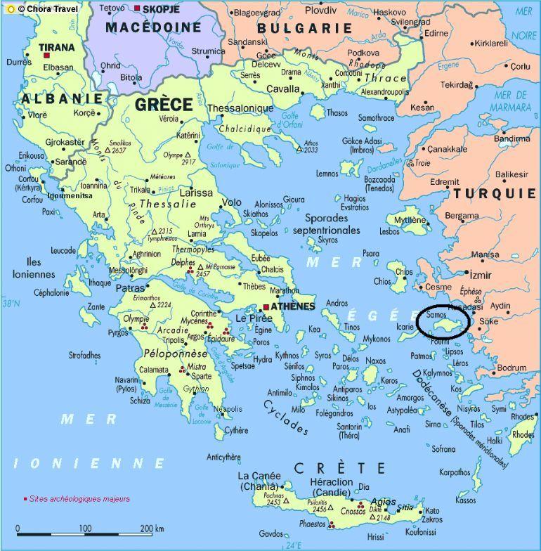 samos location Samos island Samos Samos on the map Samos