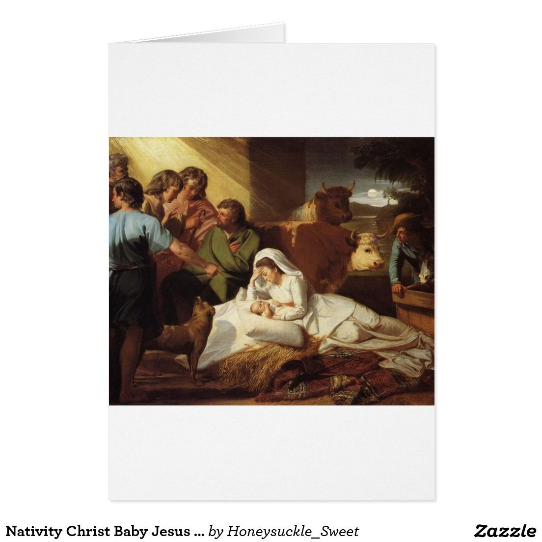 Nativity Christ Baby Jesus Christianity Scripture Card