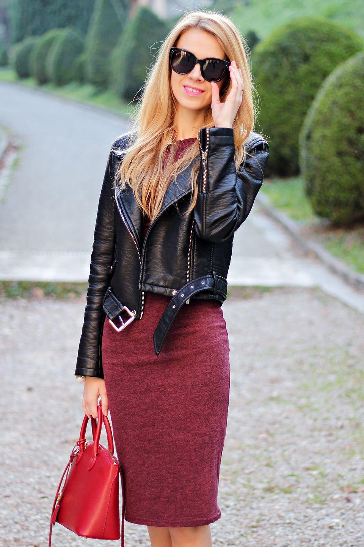 Polly black bodycon dress with denim jacket vinegar