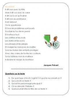 le cancre jacques prevert pdf