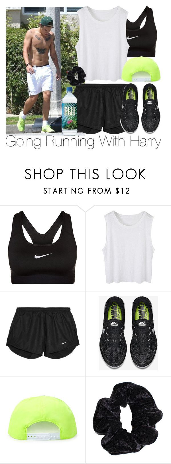 """""""Going Running With Harry"""" by zarryalmighty ❤ liked on Polyvore featuring NIKE, RADisRAD, American Apparel, OneDirection, harrystyles, onedirectionoutfits and onedirectionsets"""