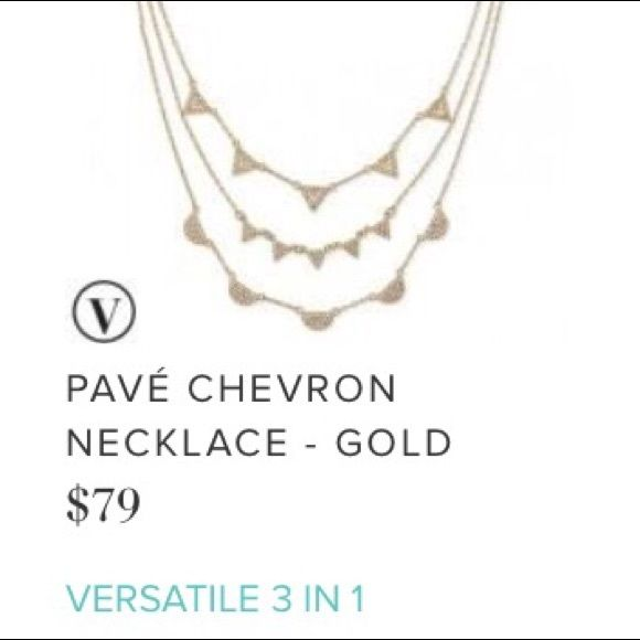 Pave necklace gold Stella and dot Worn only twice perfect condition. Smoke free pet free home. Needs new home , I need the funds. I payed full price no so low balls or trades.. I will take $40 on Ⓜ️ Stella & Dot Jewelry Necklaces