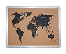 Jelinek cork group jelinek cork world map bulletin board with jelinek cork group jelinek cork world map bulletin board with aluminum frame gumiabroncs Gallery