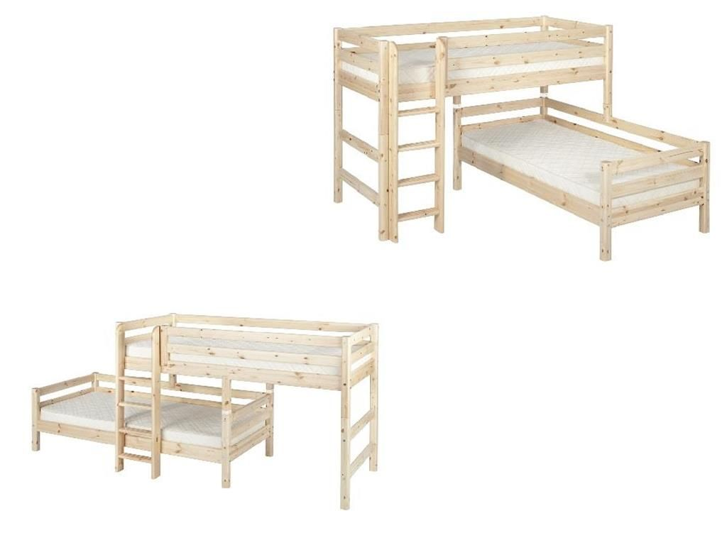 Etagenbett Umbaubar : Dannenfelser kindermöbel gmbh roomstar etagenbett weiss gerade