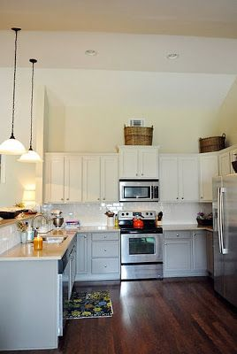 Best Haven And Home 2 Tone Cabinets Kitchen Redo Grey 400 x 300