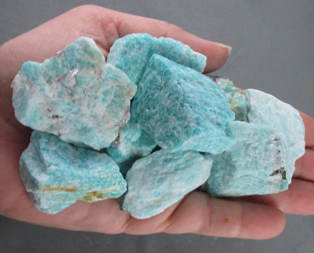 3 Raw Amazonite Crystal Healing Crystals And Stones Raw