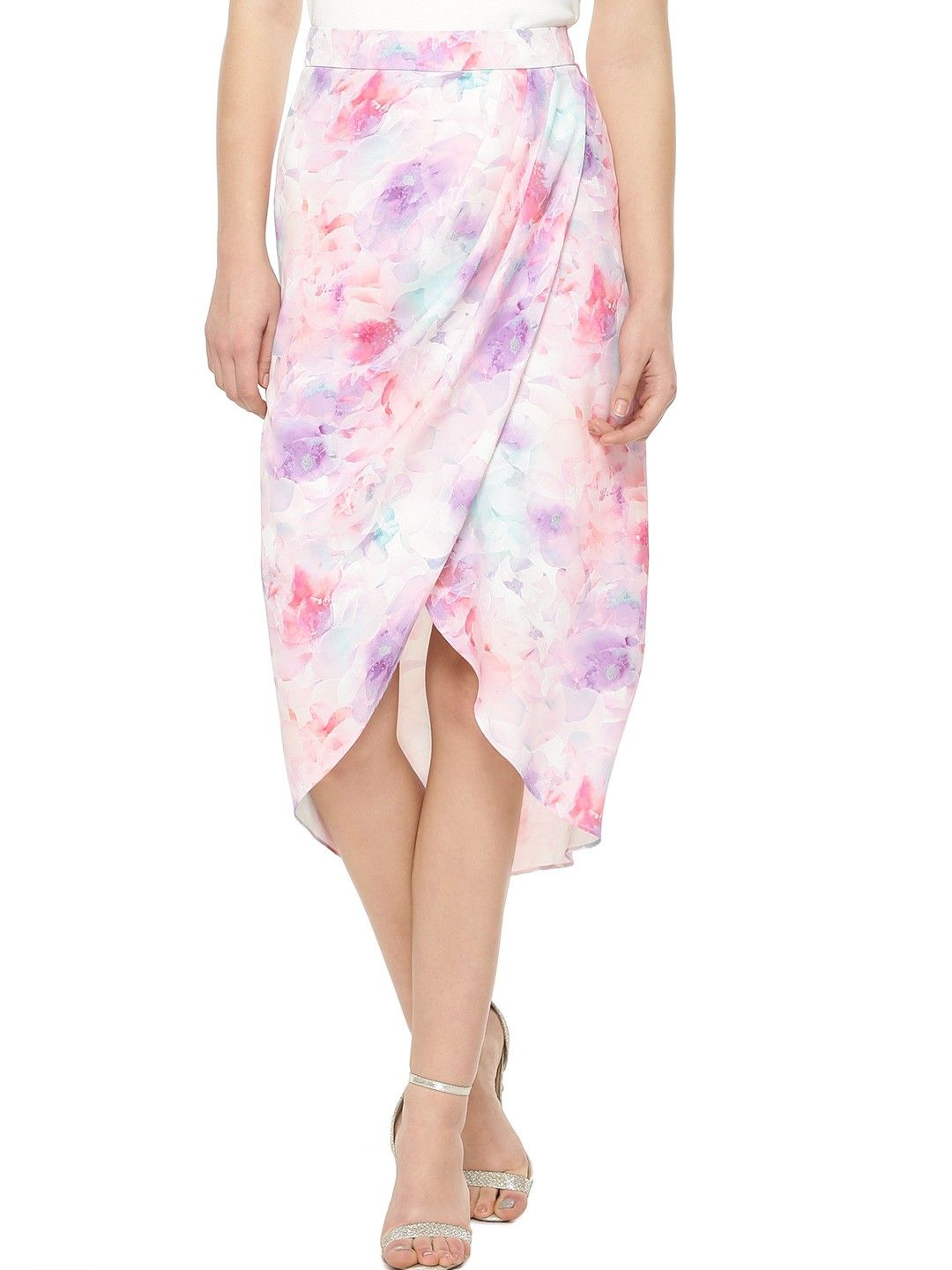 11a5dc5ee1 Buy FOREVER NEW Floral Print Asymmetric Wrap Skirt For Women - Women's  Multi Pencil Skirts Online in India