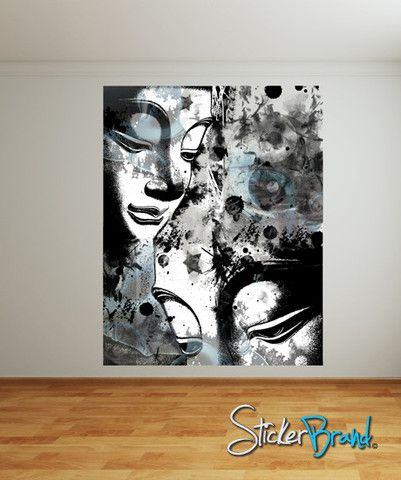 Wall Mural Designs 30 of the most incredible wall murals you have ever seen 19 Wall Mural Decal Sticker Buddha Stars Designmconde102