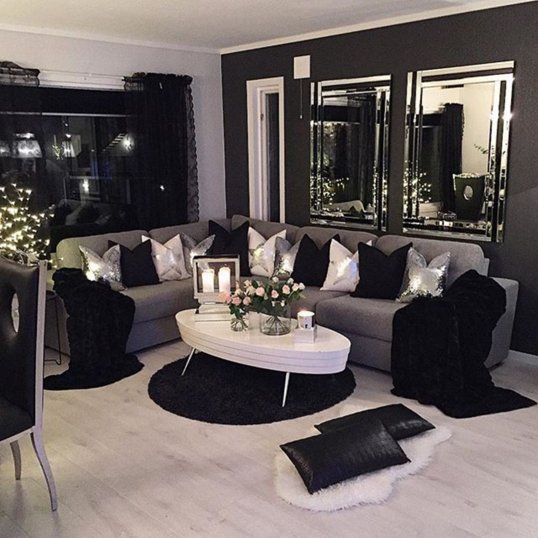 The Best 20 Elegant Modern Living Room Ideas For Amazing Home Http Decorathing Com Liv Small Living Room Decor Black Living Room Living Room Decor Apartment