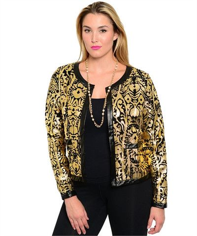 BLACK GOLD JACKET – Miracles Fashion Boutique ON SALE IN SIZES 1XL - 3XL 20% a3ccdea0e3