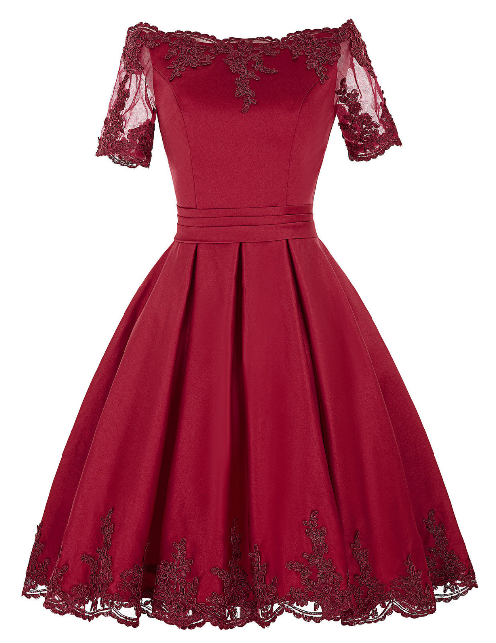 Short Sleeve Lace Applique Fashion Short Prom Dress Bridesmaid Dress Evening Party Dress Long Sleeve Dress Formal Satin Homecoming Dress Dresses Formal Elegant [ 1295 x 1000 Pixel ]
