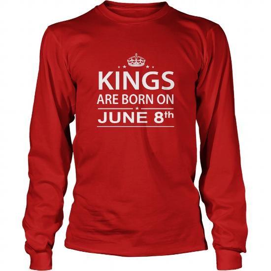 1f6ef6ba Birthday June 8 kings are born in TShirt Hoodie Shirt VNeck Shirt Sweat  Shirt for womens