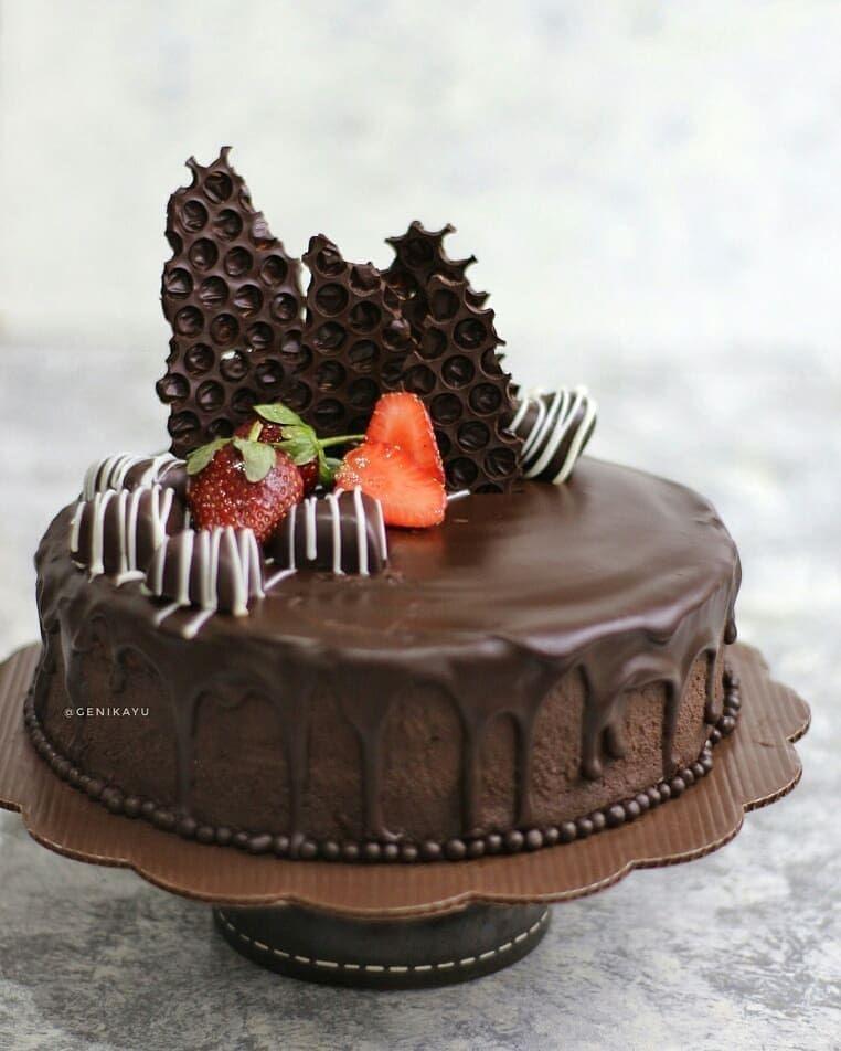 Tap Ya Kak Sebelum Baca Resepnya Juga Follow Kami Resep Kueenak Terima Kasih Triple Chocolate Mousse Cake By Genikayu Dark Gida Pastalar Tatli