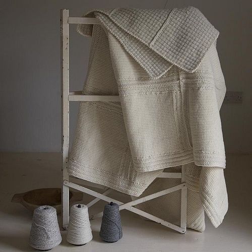 knitted patchwork throw - breien - interieur