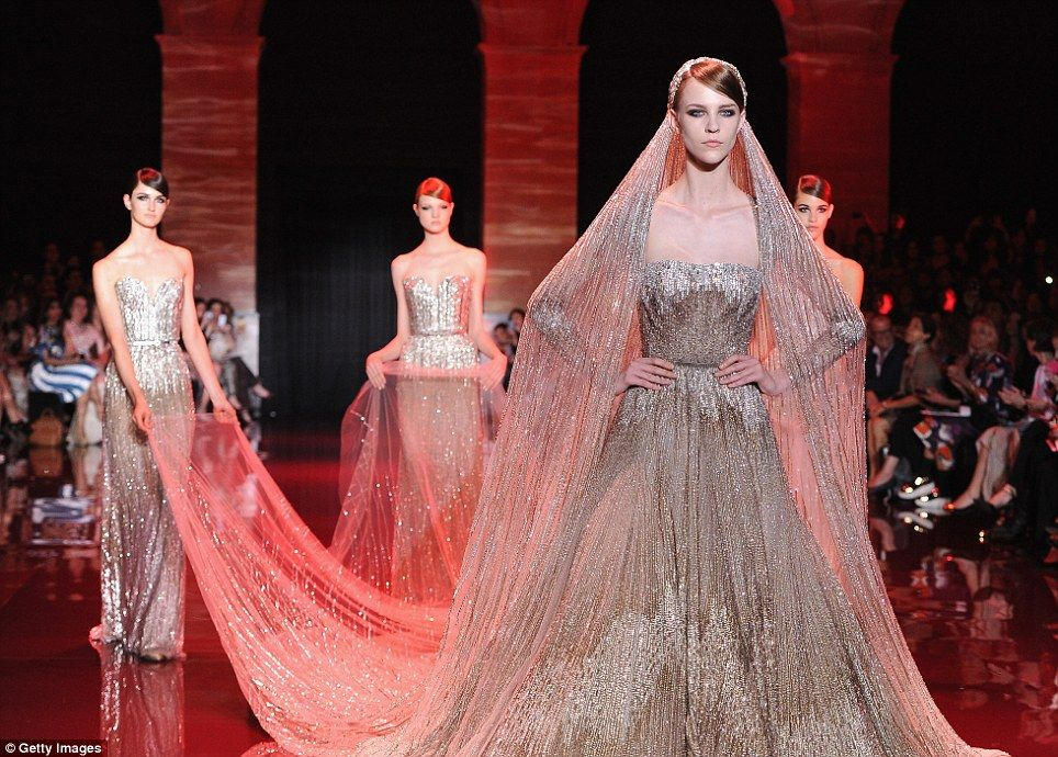 Elie Saab\'s stunning space age bride is the star of the show on ...
