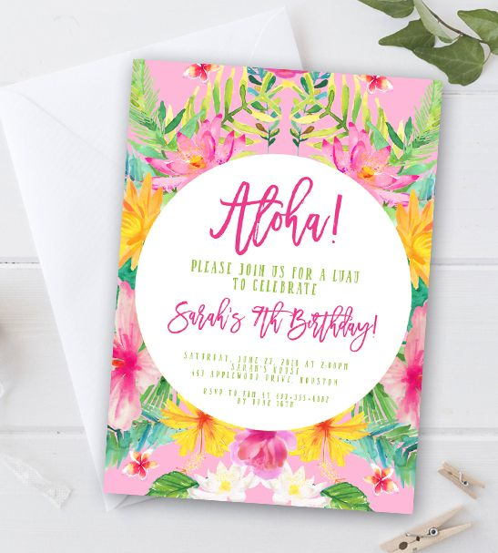 Instantly Personalize Editable Birthday Party Invitation Template