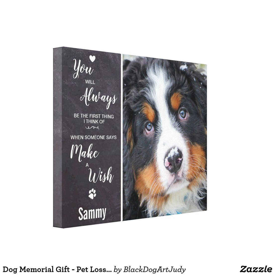 Dog memorial gift pet loss sympathy quote pet canvas
