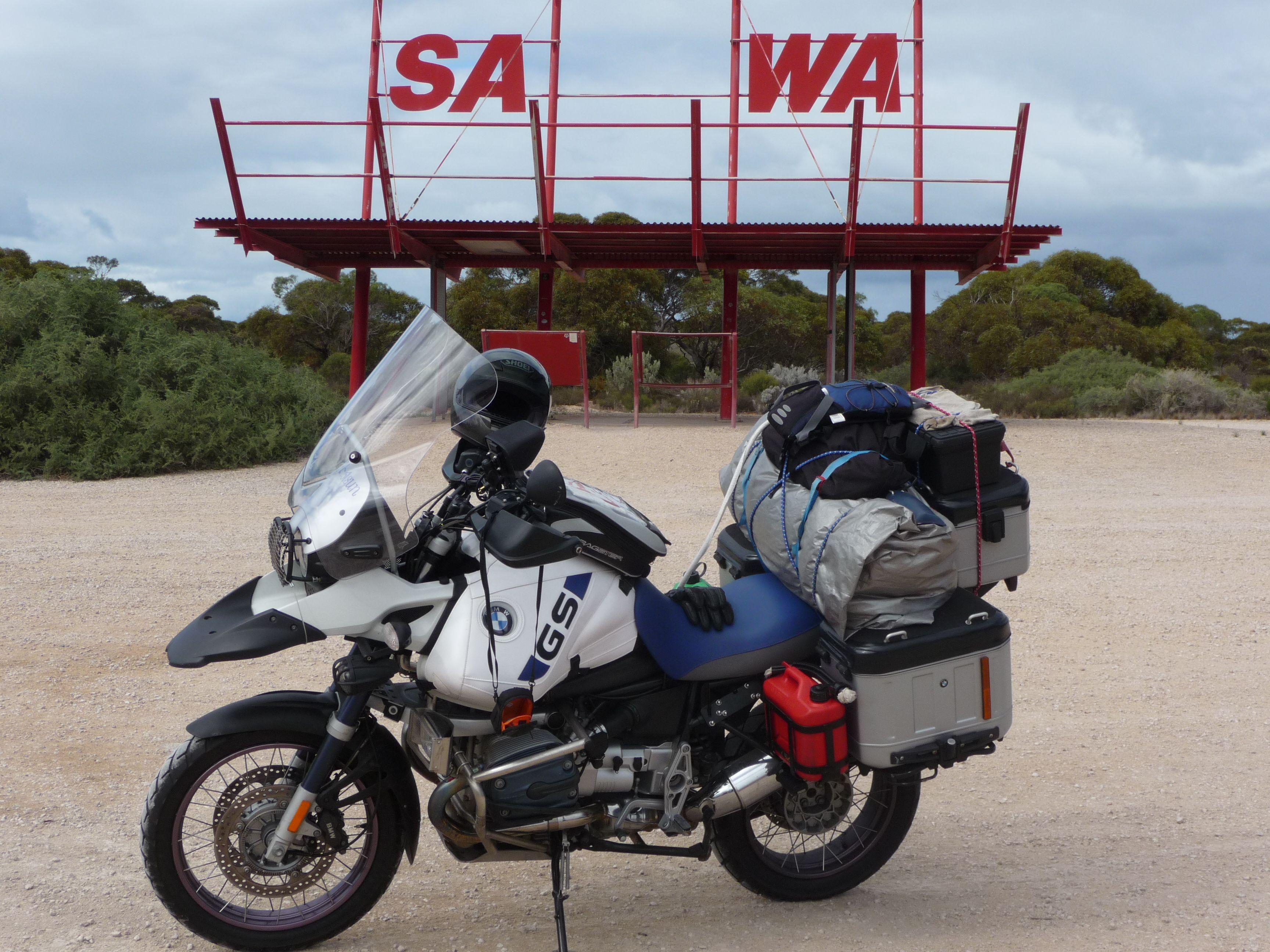 BMW R1150 GSA - Around Australia in 40 days- Day 3. And no ...