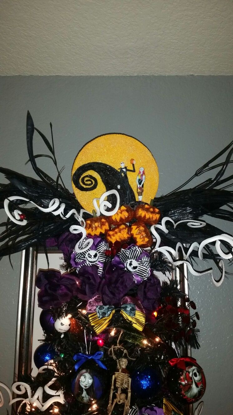 Nightmare before christmas tree topper diy. tracybermudez