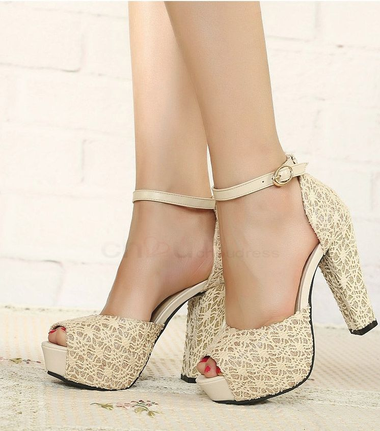 b72f5e92fb8 ivory sandal wedding shoes with chunky heel - Google Search ...