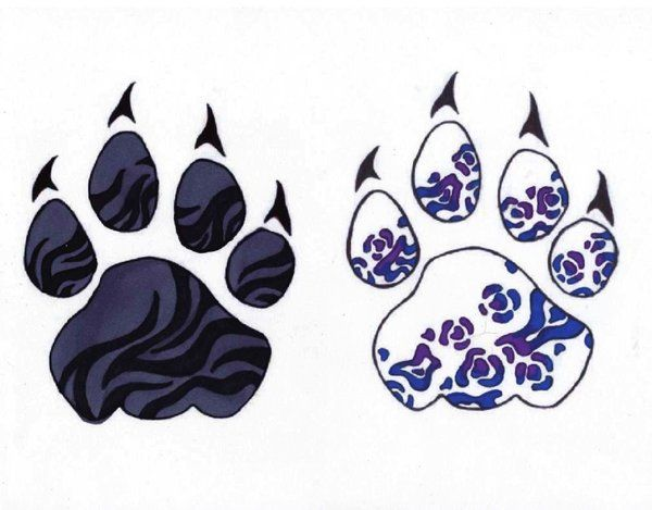A set of paws - one black tiger, the other my personal ...