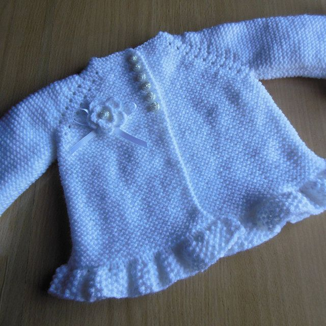 Photo of Knitting PATTERN Baby Jacket Baby Cardigan Garter stitch Knit Pattern Baby Girl Jacket Newborn Girl Coat Knitting Cardigan Baby PATTERN