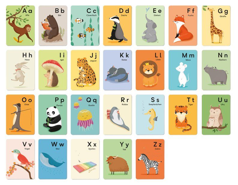 Alphabet Postcard L DIN A6