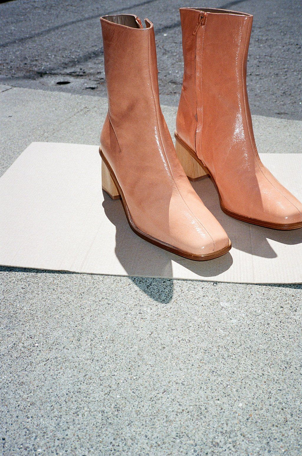 7a3b999473d Emilia Boot - Light Apricot Brown Wedges Outfit