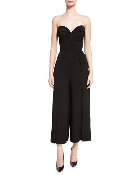 2f1034e03b3 Strapless Wide-Leg Cropped Jumpsuit