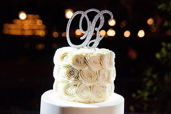 Bling Monogram Wedding Cake Topper At Disneyland