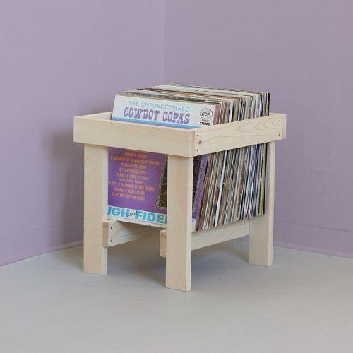 porta lp suporte apoio organizador disco vinil em madeira ... 7d6d8b6d65