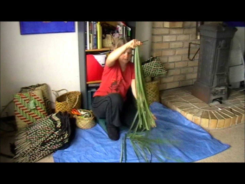How To Prepare Harakeke Part 2 Flax Weaving Flax Flowers Weaving