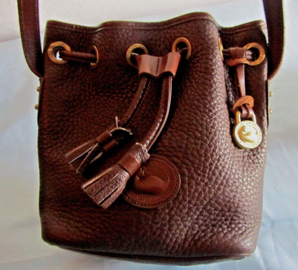 Dooney Bourke Small Drawstring Bucket Shoulder Bag Cross Body