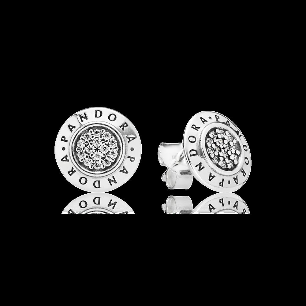 Sparkling Pandora Logo Stud Earrings Pandora Earrings Studs Pandora Earrings Pandora Jewelry