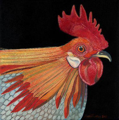 """Dutch Bantam""oil on canvas"