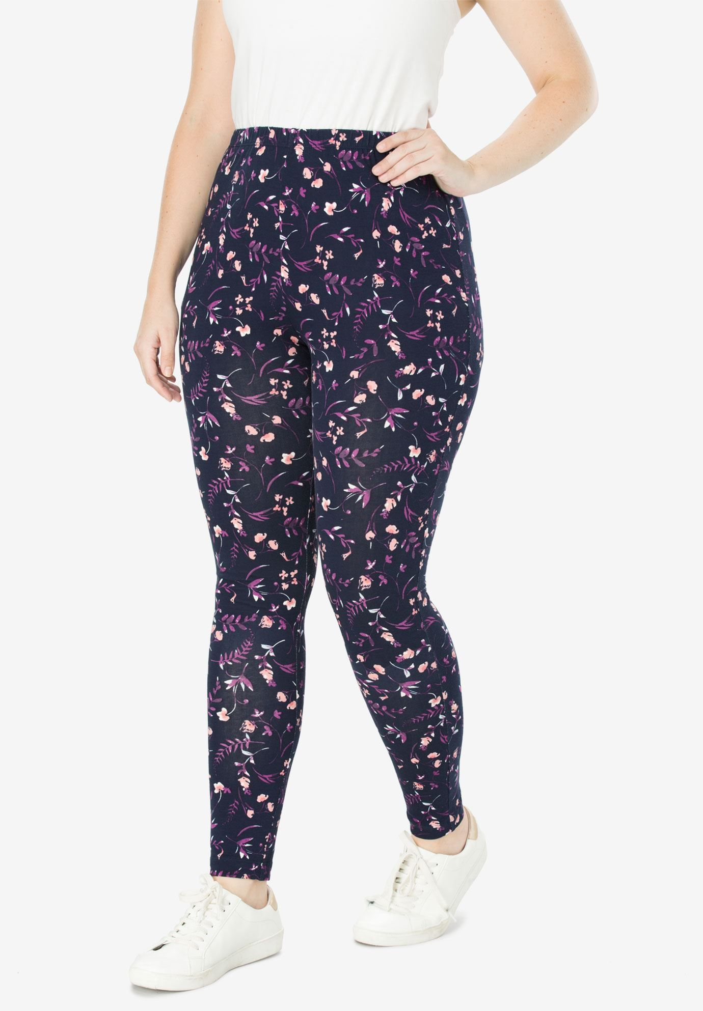 776ac668066 Stretch Cotton Printed Legging - Women s Plus Size Clothing ...
