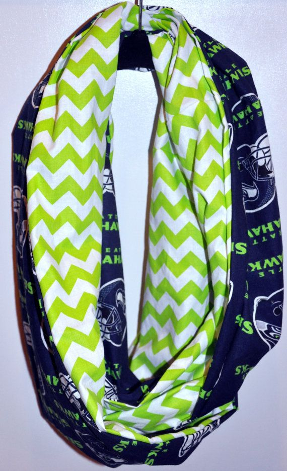 Seattle Seahawks infinity circle scarf by BlameItOnTheWeather