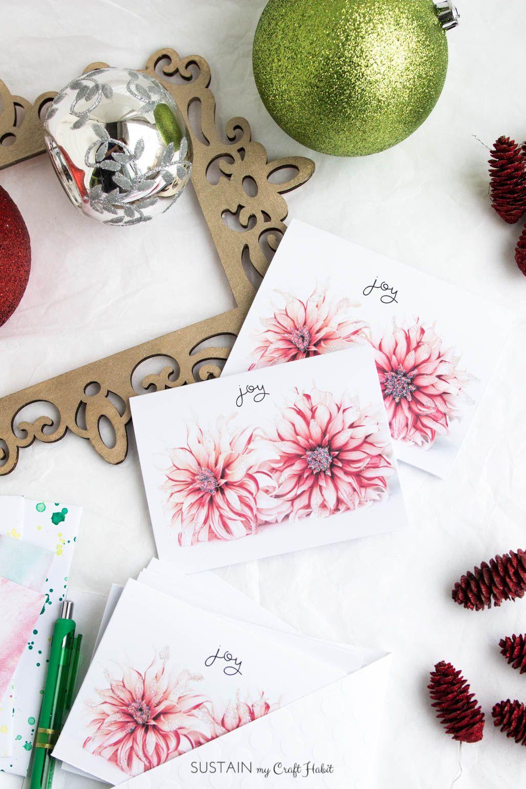 Diy Printable Christmas Greeting Cards Handmade Ideas Free