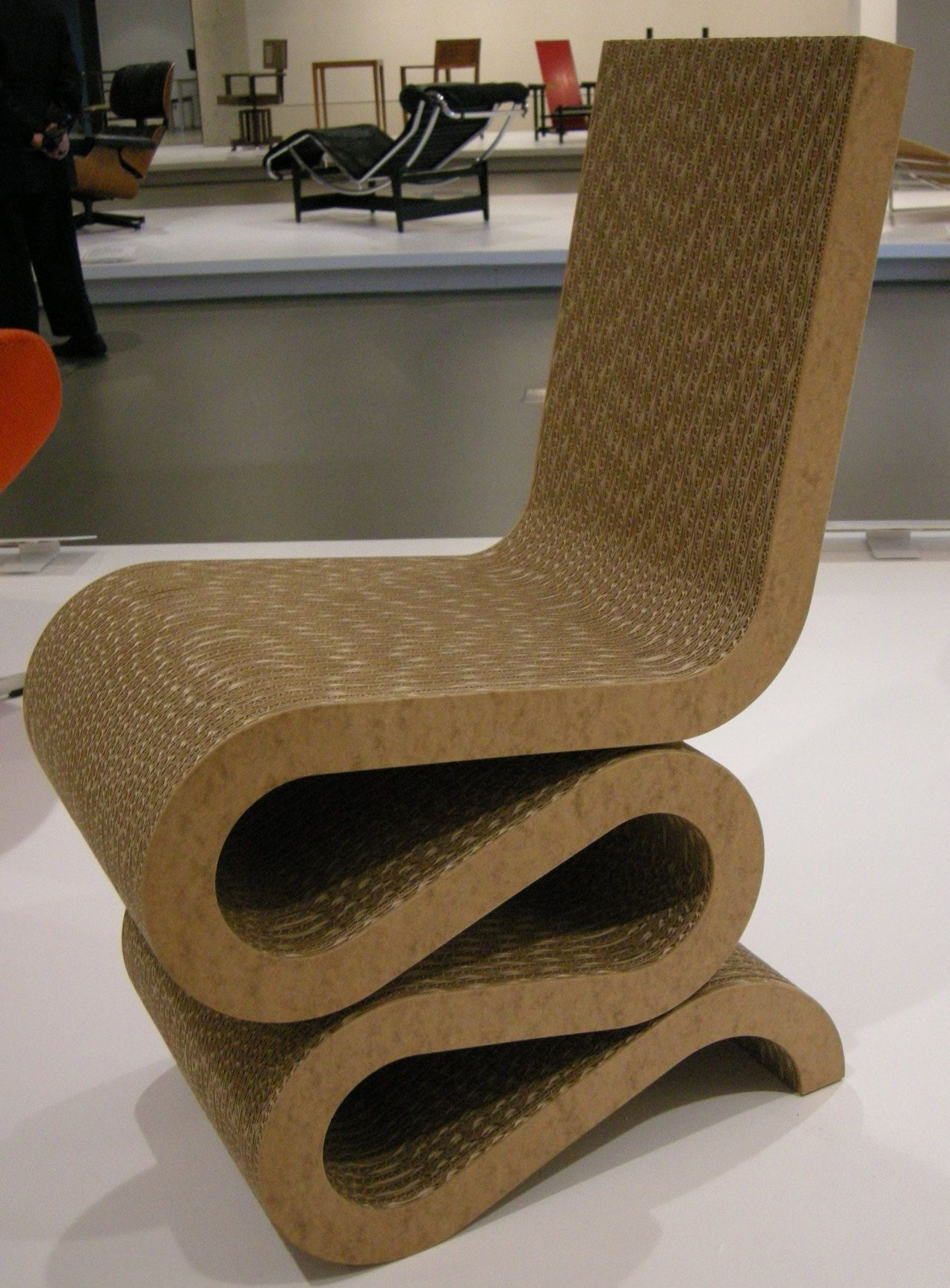 Corrugated cardboard furniture - Frank Gehry Wiggle Chair 1972 The Ultimate Cardboard Chair Potenital For Show Sale Or Workshop With Graduates From City Of Glasgow College Hnc D