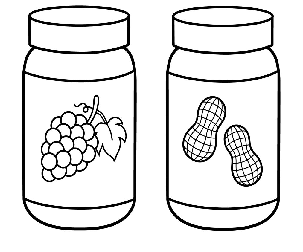 Peanut Butter Jar Coloring Page Com Imagens Patchwork Riscos