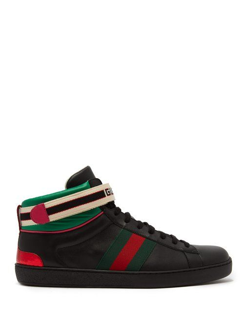 88c76ca3edf1 GUCCI New Ace high-top leather trainers.  gucci  shoes