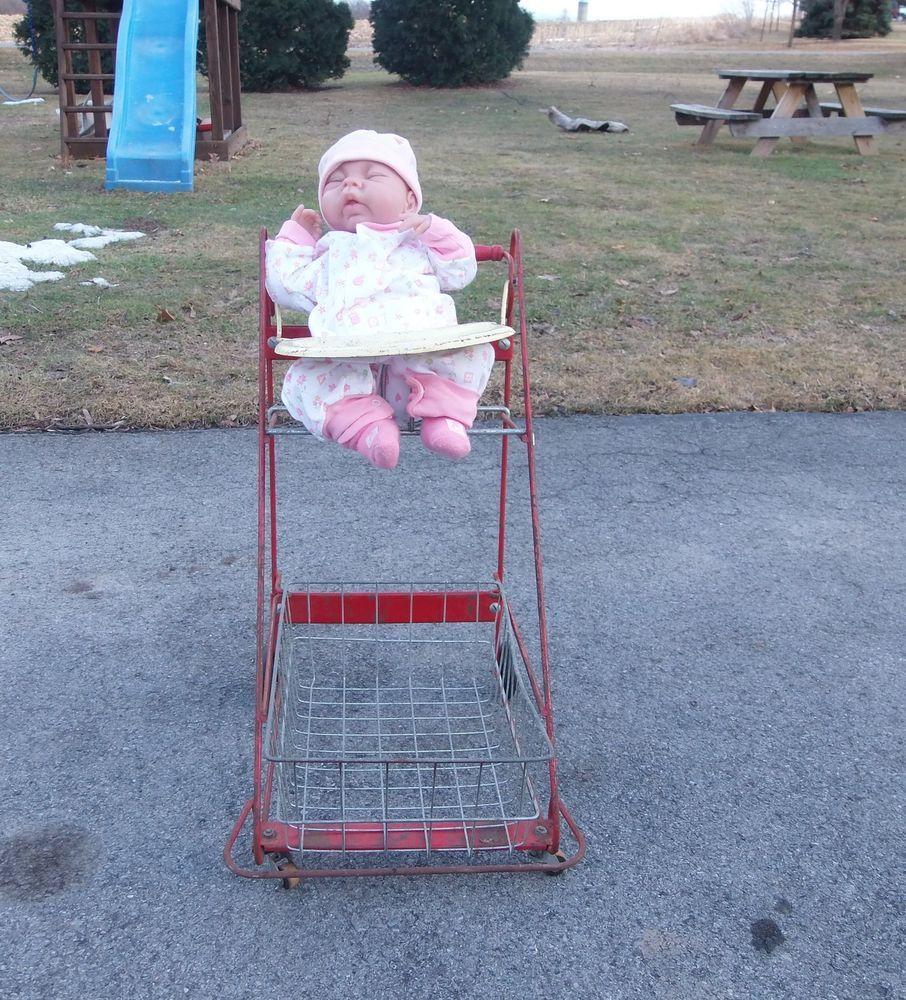 Vintage 1950s Amsco Baby Doll Stroller Cart
