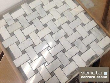 1175sf carrara venato polished gray dot basketweave marble mosaic 1175sf carrara venato polished gray dot basketweave marble mosaic tile traditional tile ppazfo