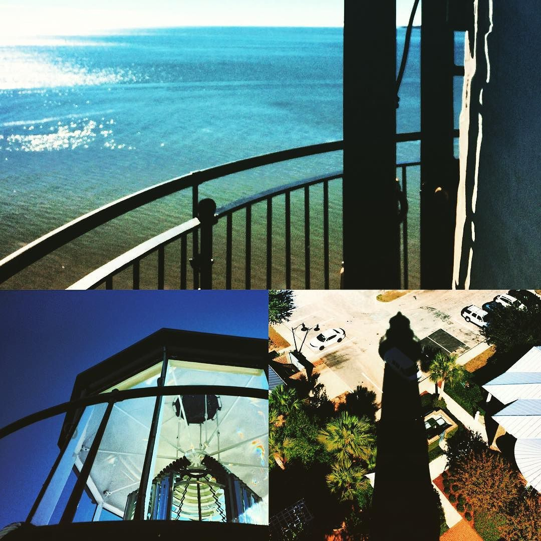 #lighthouses are just so #fascinating! The #view the #lantern the #shadow: all #amazing. #StSimons #StSimonsIsland #Georgia #tourist #travelblog #travelgram #instatravel #instaGeorgia #igtravel #lighthouse #historical #historic #southeast #bluesky #Atlantic #Ocean #coastal #islandlife #Island #roadtrip #glass #light #beacon #2TDSunnySouth2015 by 2traveldads