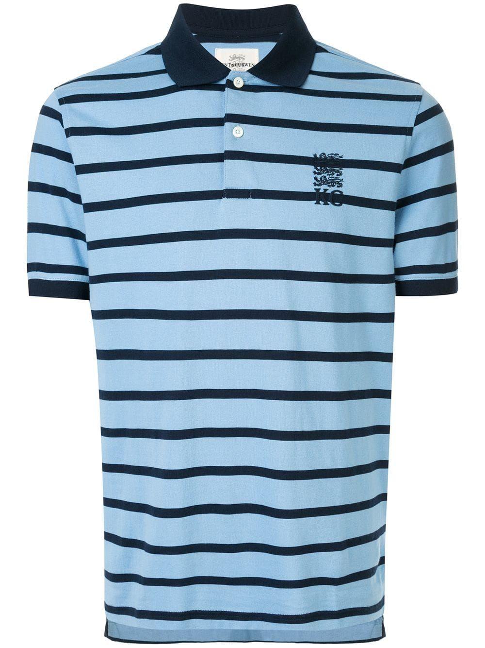 b601340ab KENT & CURWEN KENT & CURWEN STRIPED POLO SHIRT - BLUE. #kentcurwen #cloth
